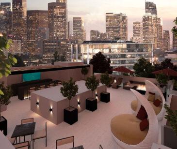 Progreso-40-Desarrollo-Inmobiliario-Colonia-Escandón-Roof-Garden-Anochecer