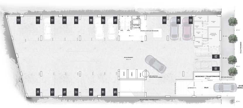 Progreso-40-Desarrollo-Inmobiliario-Semisotano-Estacionamiento